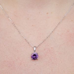 J&LBIJOUX Jewelry - S925 February (amethyst) birthstone necklace